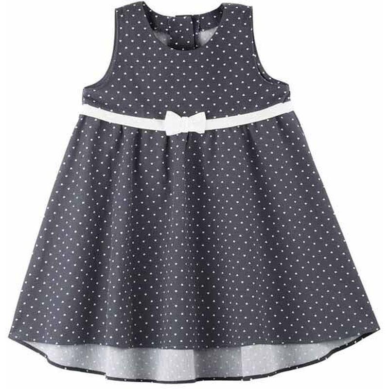 Pure Pure festliches Kleid/Taufkleid -marine mit Herzchen- | Ökolinchen