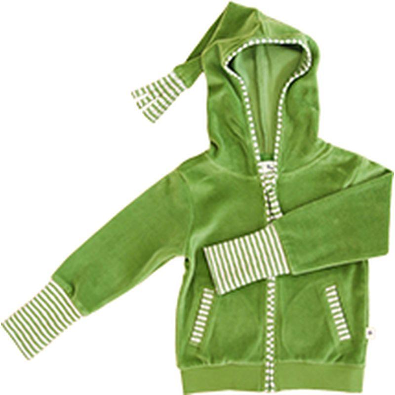 Leela Cotton Baby//Kinder Nicky-Jacke mit Kapuze Bio-Baumwolle